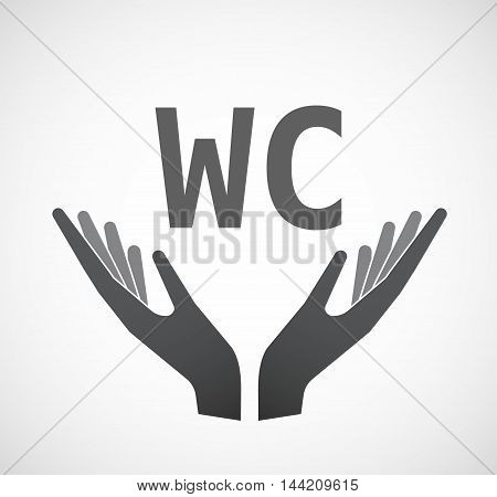 Isolated Hands Offering Icon With    The Text Wc