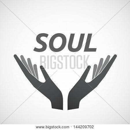 Isolated Hands Offering Icon With    The Text Soul