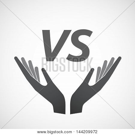 Isolated Hands Offering Icon With    The Text Vs