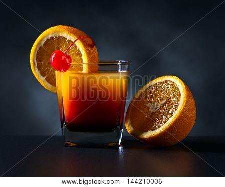 Cocktail Tequila Sunrise And Orange