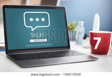 Talk Communication Online Conversation Message Concept
