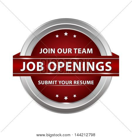 Job openings. Join our team, Submit your resume - metallic red icon recruitment agencies and staffing firms