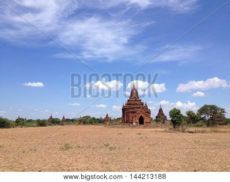 Ancient Temples and old temple in Bagan Myanmar