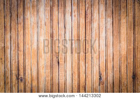 Closeup of light brown old wood planks background