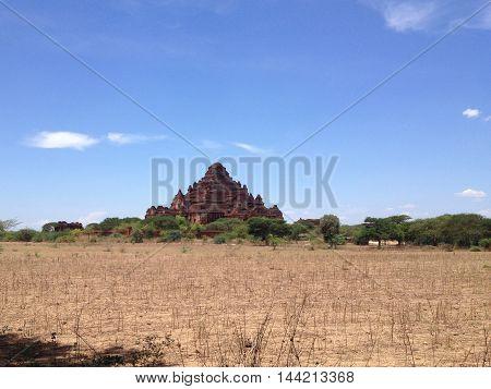 Ancient Temples and big old pagoda in Bagan Myanmar