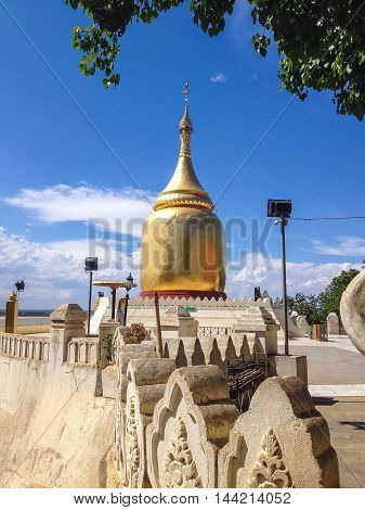 BuPaya Historical Pagoda in Bagan in Myanmar - The pagoda is overlooking at the right bank of the Ayeyarwady River