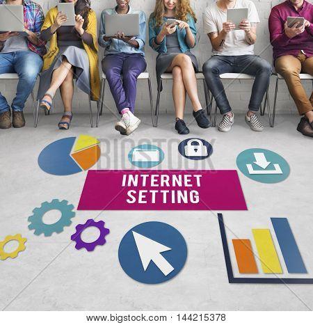 Internet Setting Gadget Control Networking Concept