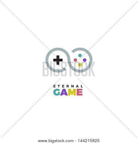 Gamepad logo. Gamepad vector logo. Joystick logo.