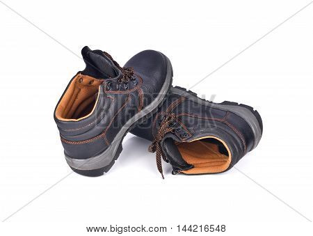 Safety Shoes isolated on white background black