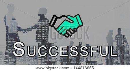 Handshake Deal Agreement Corporate Business Concept