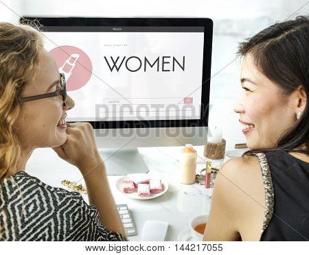 Stylish Beauty Women Elegant Enjoy Concept