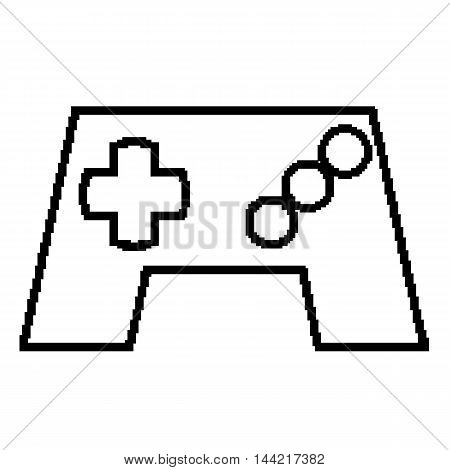 Gamepad or video game controller pixel icon for apps and websites