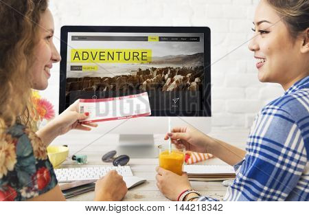 Adventure Trip Travel Destination Hiking Nature Concept