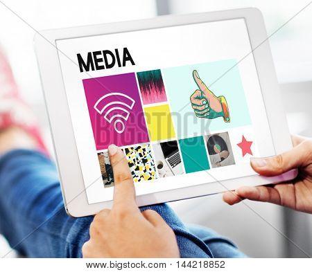 Media Digital Information Internet Social Online Concept