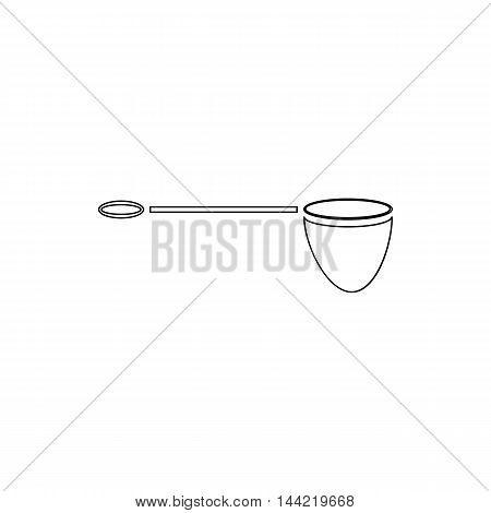 Net for fishing icon in outline style isolated on white background