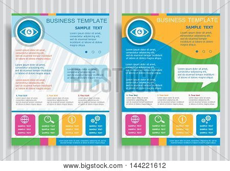 Eye Icon On Vector Brochure Flyer Design Layout Template