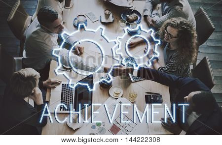 Business Achievement Progress Development Cogwheel Concept