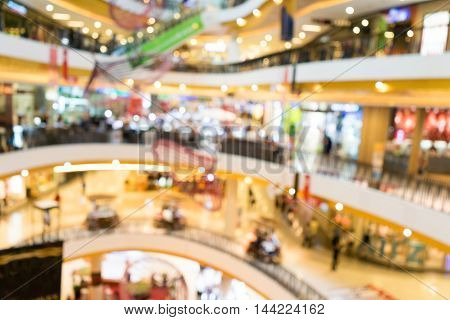 Blurred background shopping mall blur background with bokeh