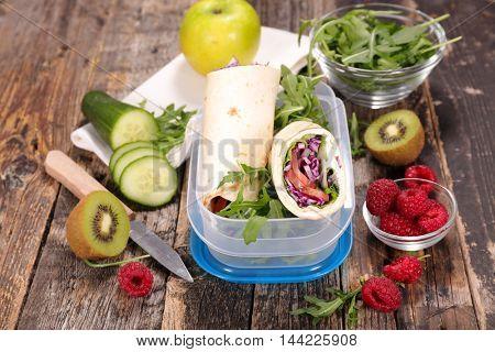 sandwich,healthy lunch box