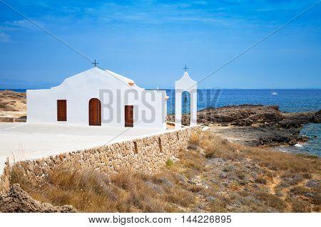 Church On The Sea. Coast Of Island Zakynthos