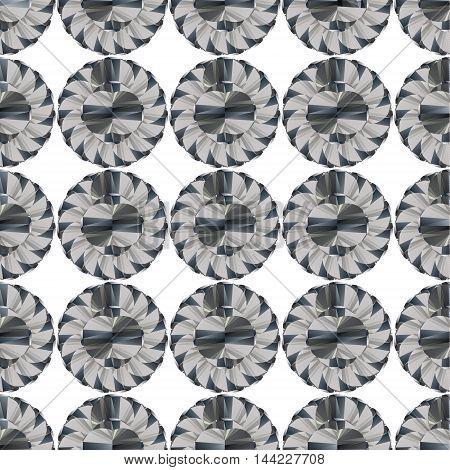 Seamless geometric pattern flowers style vector mosaic