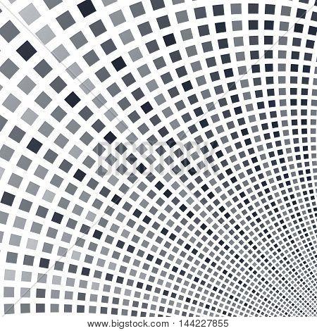 Abstract fractal square pixel mosaic illustration black
