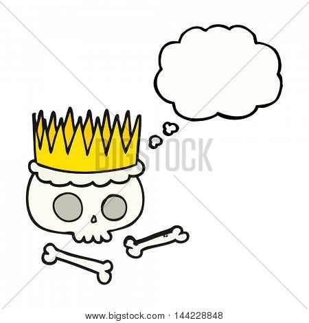 freehand drawn thought bubble cartoon crown