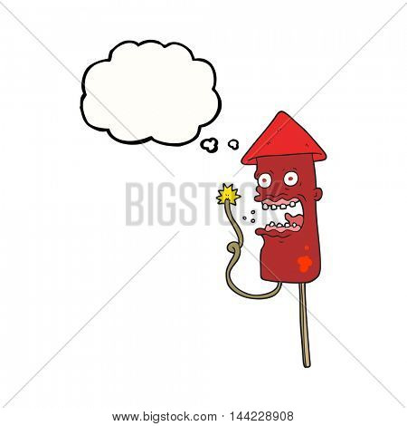 freehand drawn thought bubble cartoon screaming firework