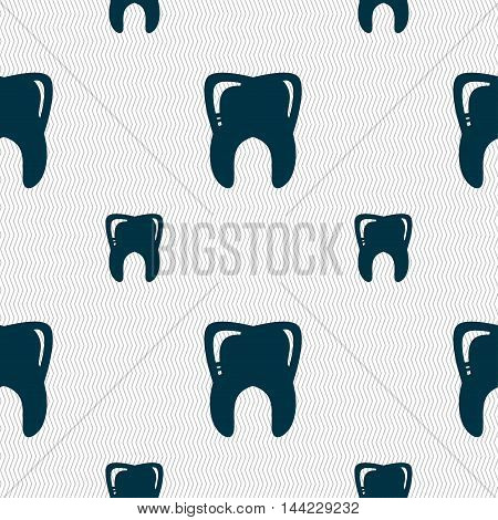 Tooth Sign. Seamless Pattern With Geometric Texture. Vector