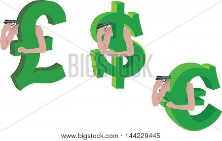 currency crisis devaluation crisis currency symbols that are fired