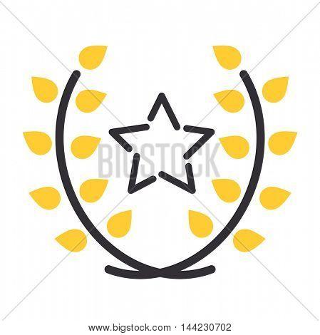 Star award vector icon