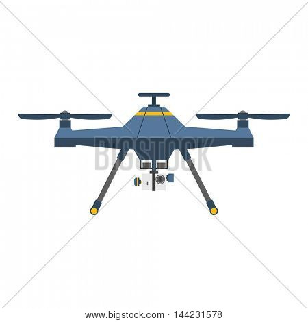 quadcopter vector isolated