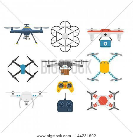 Quadcopter vector set.