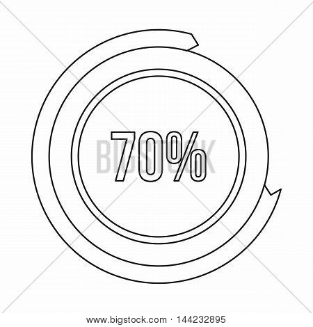 Sign 70 load icon in outline style isolated on white background. Loading symbol