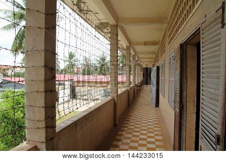 Tuol Sleng Genocide Museum in Phnom Penh Cambodia