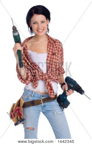 Girl With Drill