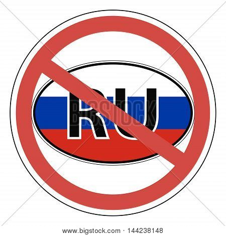 Sign Russia, the Russians banned. Entrance is prohibited. vector for print or website design