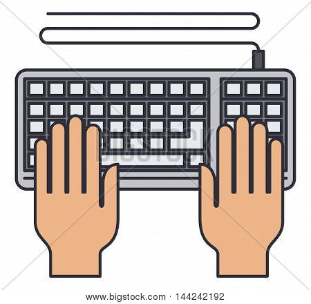 keyboard computer isolated icon vector illustration design
