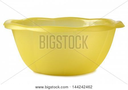 Colorful plastic pan on white background