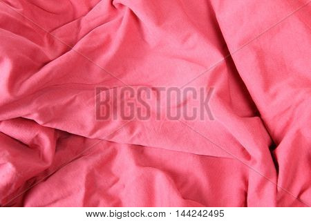Decorative textile background with a large pile