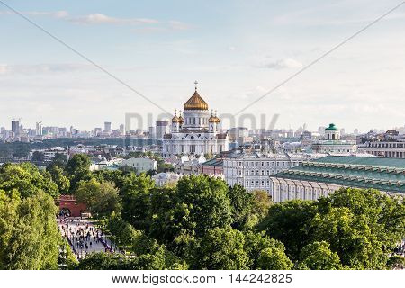 views of Moscow and the Cathedral of Christ the Savior