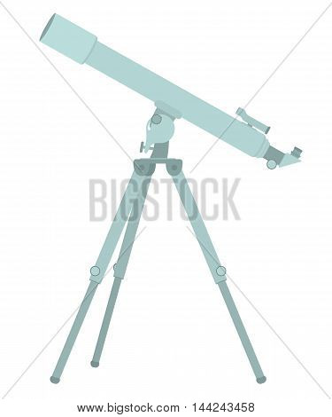 Telescope flat design. Vector illustration isolated on white
