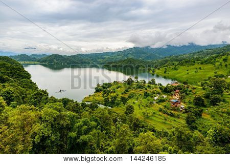 Begnas Lake in the Pokhara valley, Nepal