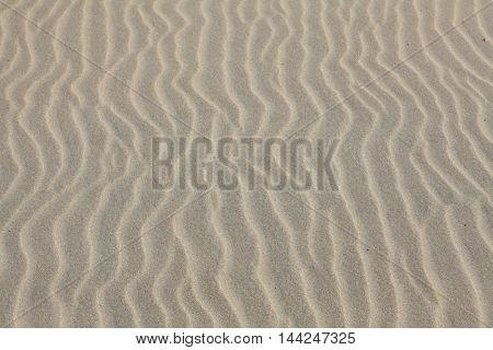 Waves sand on the beach