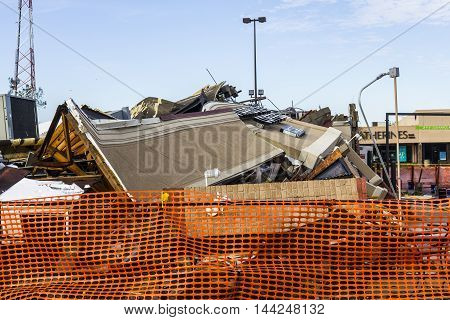 Kokomo - August 24 2016: Several EF3 tornadoes touched down, one of which destroyed a local Starbucks 4