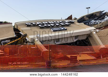 Kokomo - August 24 2016: Several EF3 tornadoes touched down, one of which destroyed a local Starbucks 1