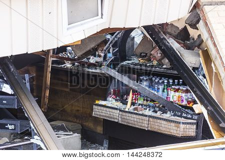 Kokomo - August 24 2016: Several EF3 tornadoes touched down, one of which destroyed a local Starbucks 9