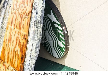 Kokomo - August 24 2016: Several EF3 tornadoes touched down, one of which destroyed a local Starbucks 19
