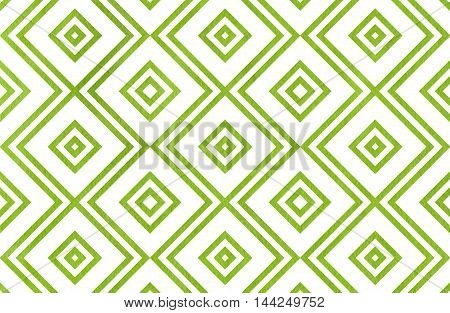 Geometrical Pattern In Green Color.