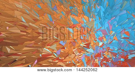 Polygonal colorful abstract graphic background movement look with hard stroke line on